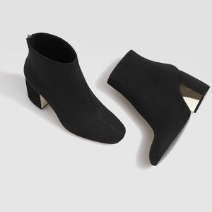 Shoes - Black suede ankle booties